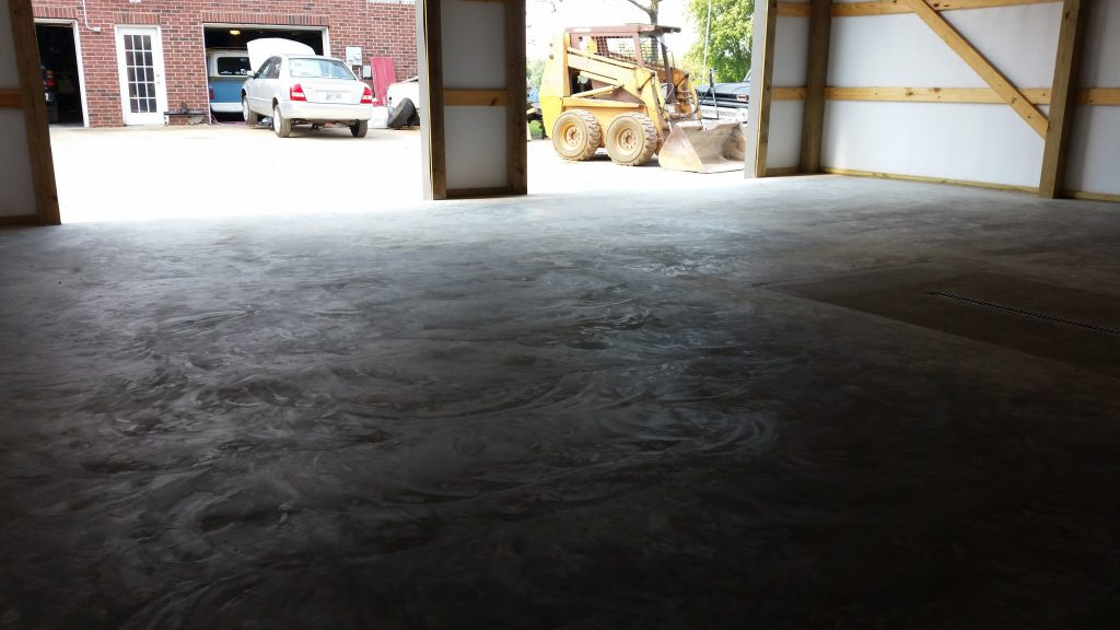 Pole Barn Concrete Floor in White House TN | Concrete Workz